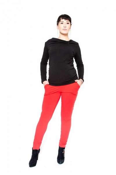 Těhotenské kalhoty Be MaaMaa - KALI červené - M