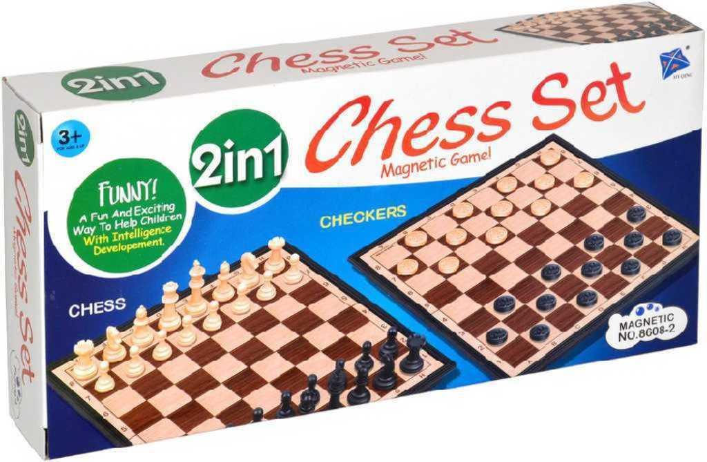 Hra Šachy + Dáma 2v1 magnetické *SPOLEČENSKÉ HRY*