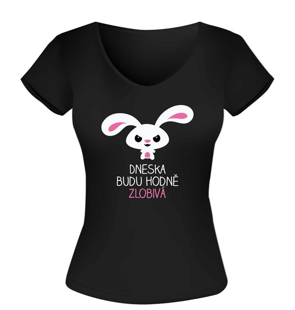 Humorná trička - Dámské tričko - Zlobivá, vel. M