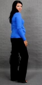 Těhotenské triko ELLIS - modrá