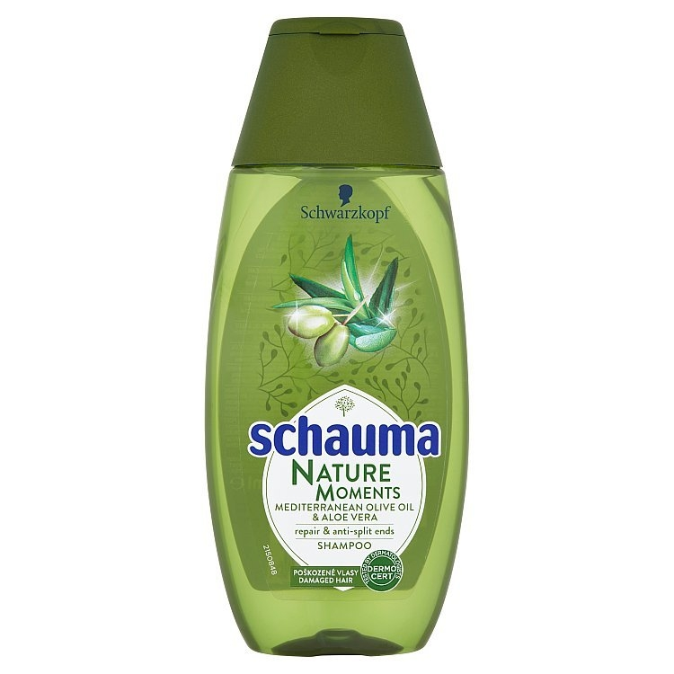 Nature Moments středomořský olivový olej a aloe vera šampon proti třepení konečků 250 ml