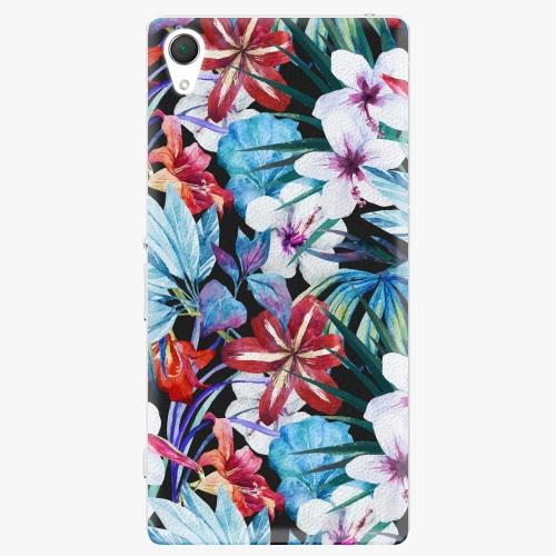 Plastový kryt iSaprio - Tropical Flowers 05 - Sony Xperia Z2