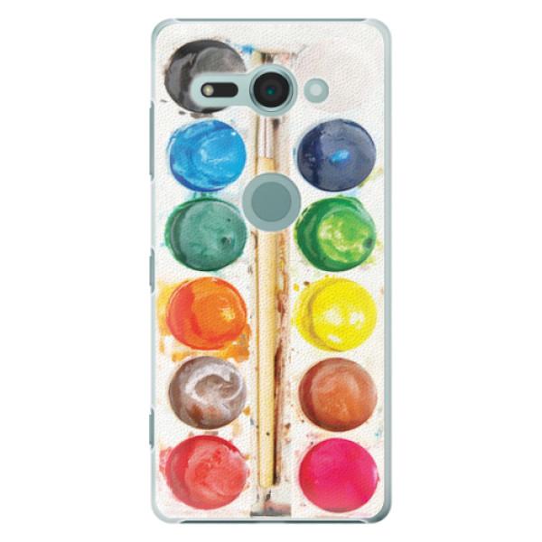 Plastové pouzdro iSaprio - Watercolors - Sony Xperia XZ2 Compact