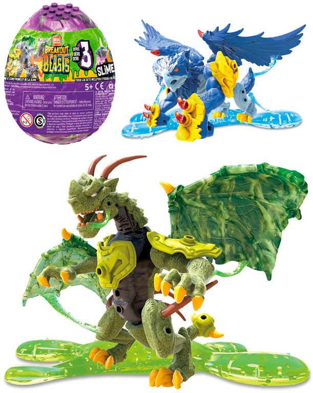 Breakout Beasts vajíčko se slizem a figurka drak k sestavení různé druhy plast