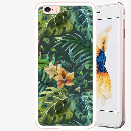 Plastový kryt iSaprio - Tropical Green 02 - iPhone 6 Plus/6S Plus - Rose Gold