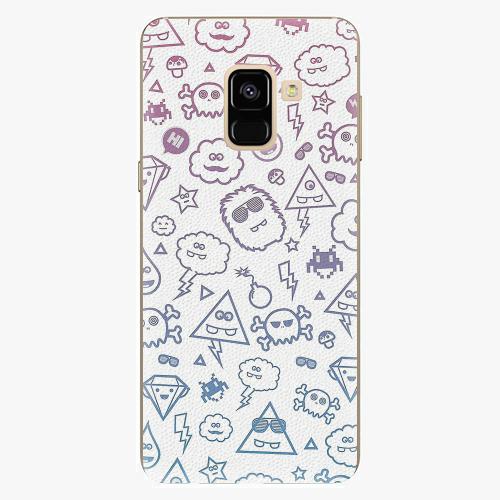 Plastový kryt iSaprio - Funny Clouds - Samsung Galaxy A8 2018