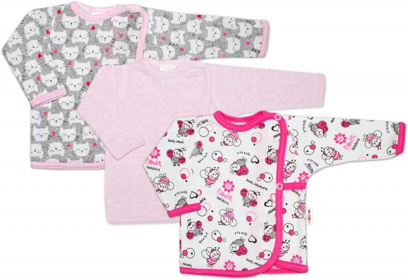 Novorozenecká dívčí sada košilek Baby Nellys ® - 3 ks