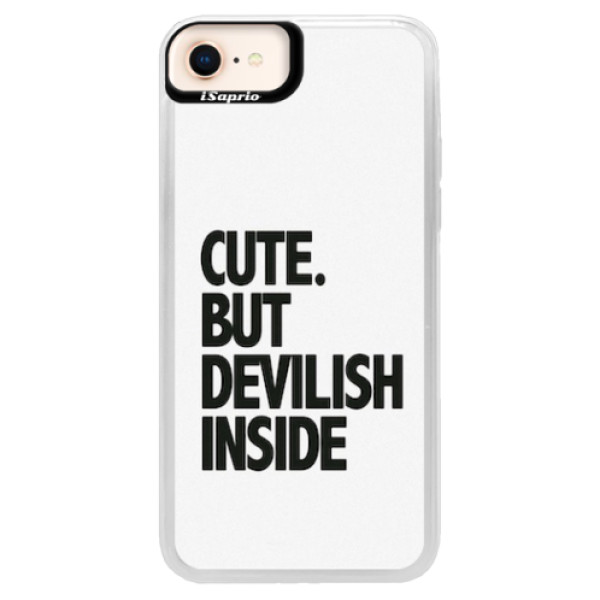 Neonové pouzdro Blue iSaprio - Devilish inside - iPhone 8