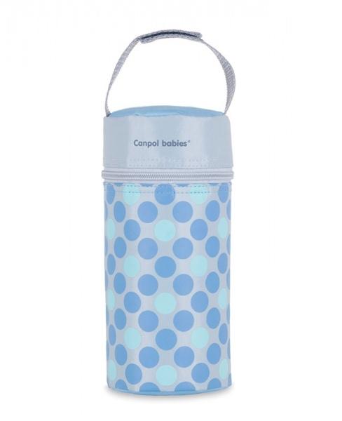 Canpol babies Termobox na kojeneckou láhev - puntíky modré