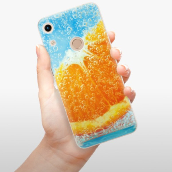 Odolné silikonové pouzdro iSaprio - Orange Water - Huawei Honor 8A
