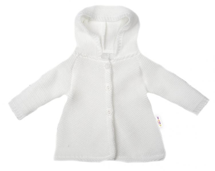 baby-nellys-kojenecky-svetrik-s-kapuci-ackovy-strih-bily-vel-68-68-4-6m