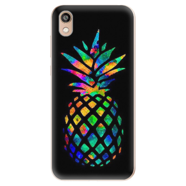 Odolné silikonové pouzdro iSaprio - Rainbow Pineapple - Huawei Honor 8S