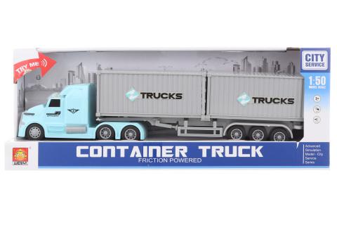 Kamion s kontejnery na baterie