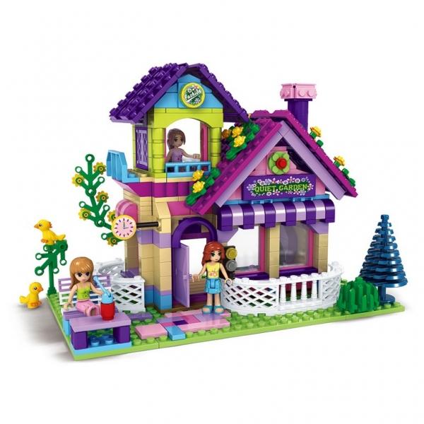 Stavebnice AUSINI dívčí svět velký zahradní domek 507 dílků