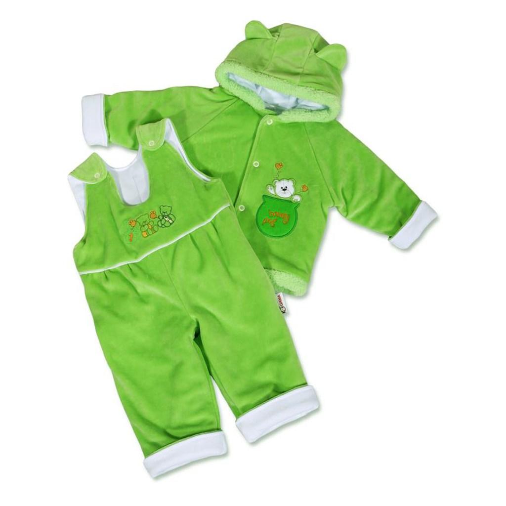 Kojenecká zimní souprava New Baby medvídek - zeleno-bílá - zelená/56 (0-3m)