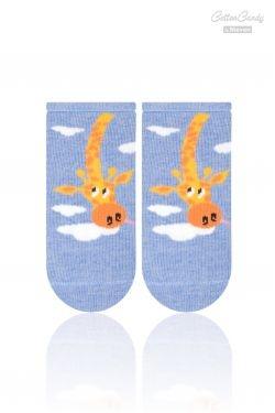 Kojenecké ponožtičky CANDY - Žirafka - tm. modrá - 17-19 vel. ponožek