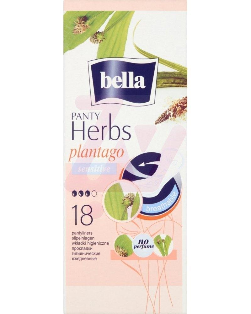 Herbs Plantago Sensitive hygienické slipové vložky, 18ks