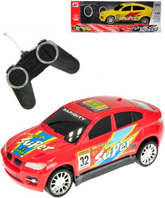 RC Auto sportovní 17cm závodnička na vysílačku 27MHz na baterie 2 barvy Světlo