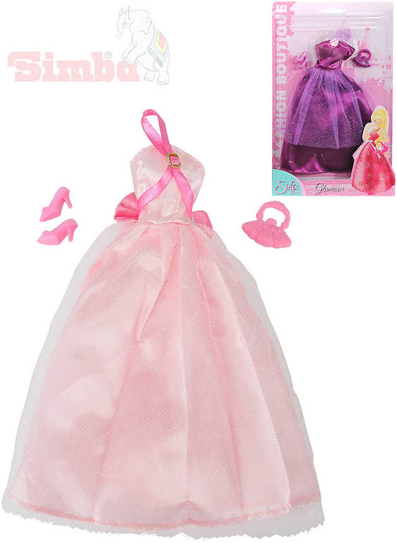 SIMBA Šaty pro panenku Steffi Love Romantic World set s kabelkou a botičkami