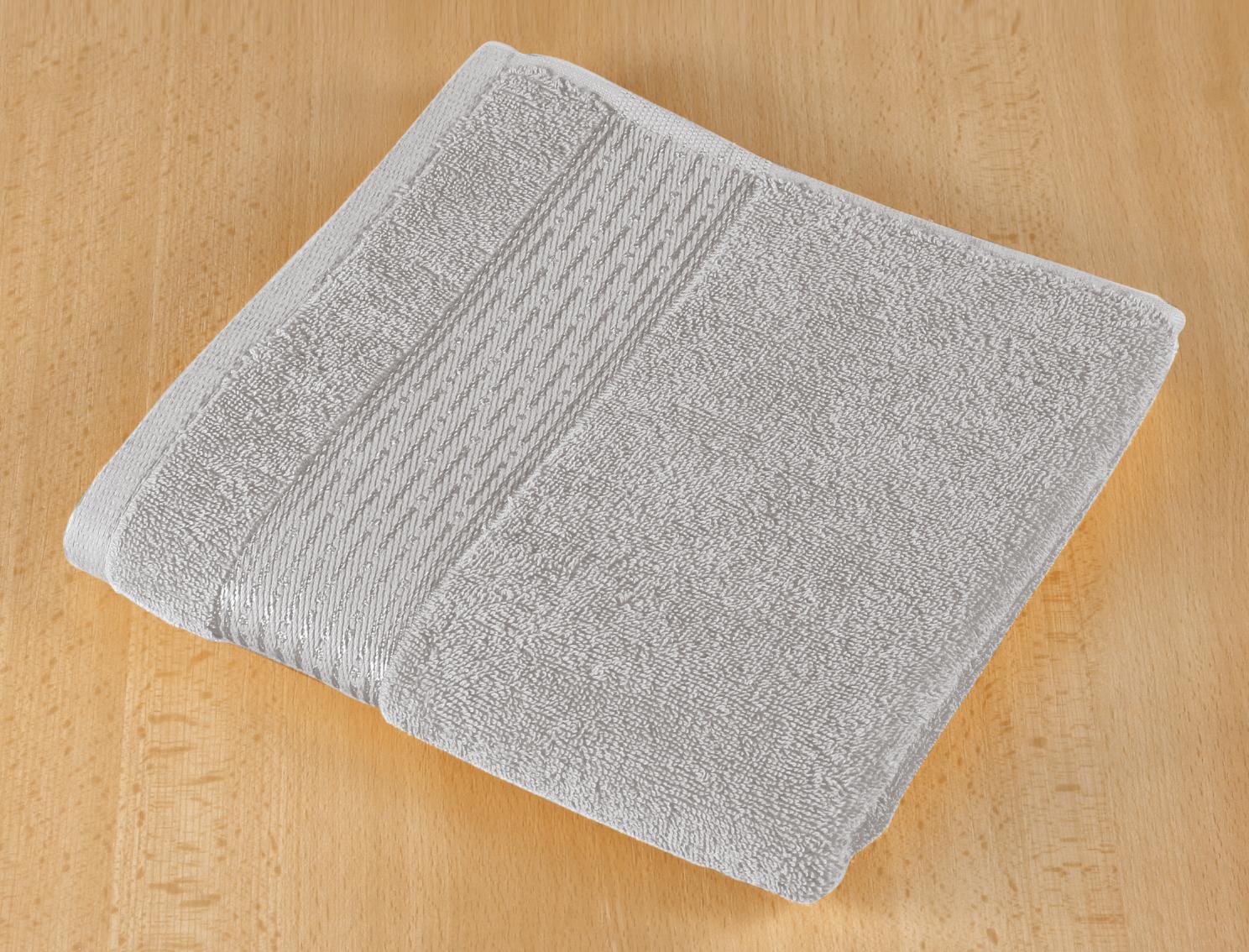 Froté ručník 50x100cm proužek 450g šedá