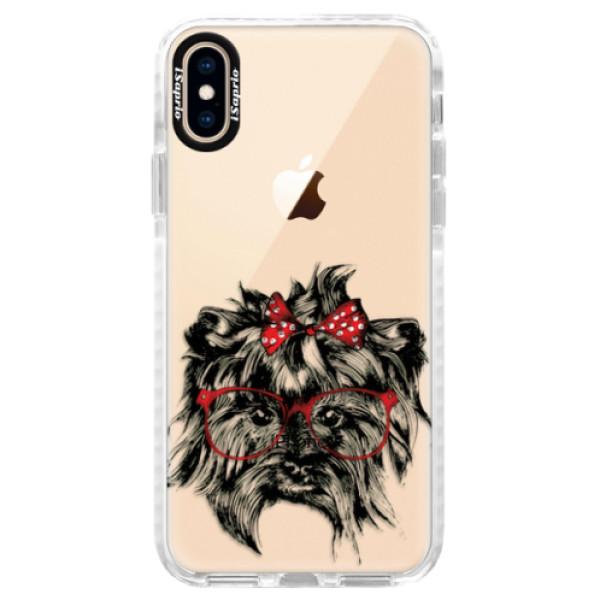 Silikonové pouzdro Bumper iSaprio - Dog 03 - iPhone XS