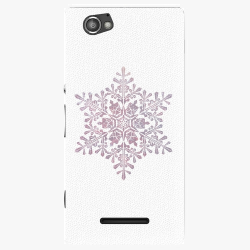 Plastový kryt iSaprio - Snow Flake - Sony Xperia M