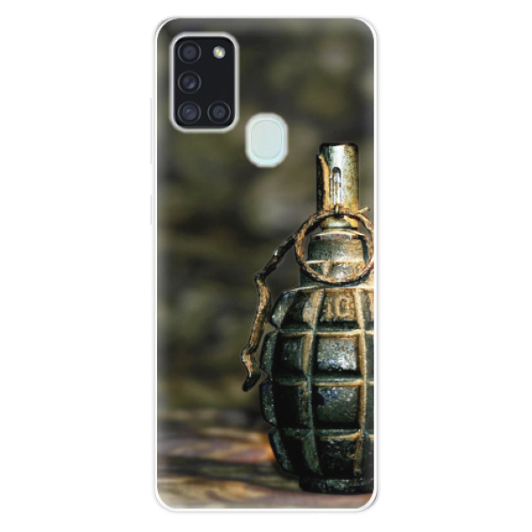 Odolné silikonové pouzdro iSaprio - Grenade - Samsung Galaxy A21s