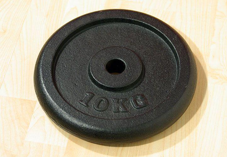 Závaží na činky 10 kg černé litina