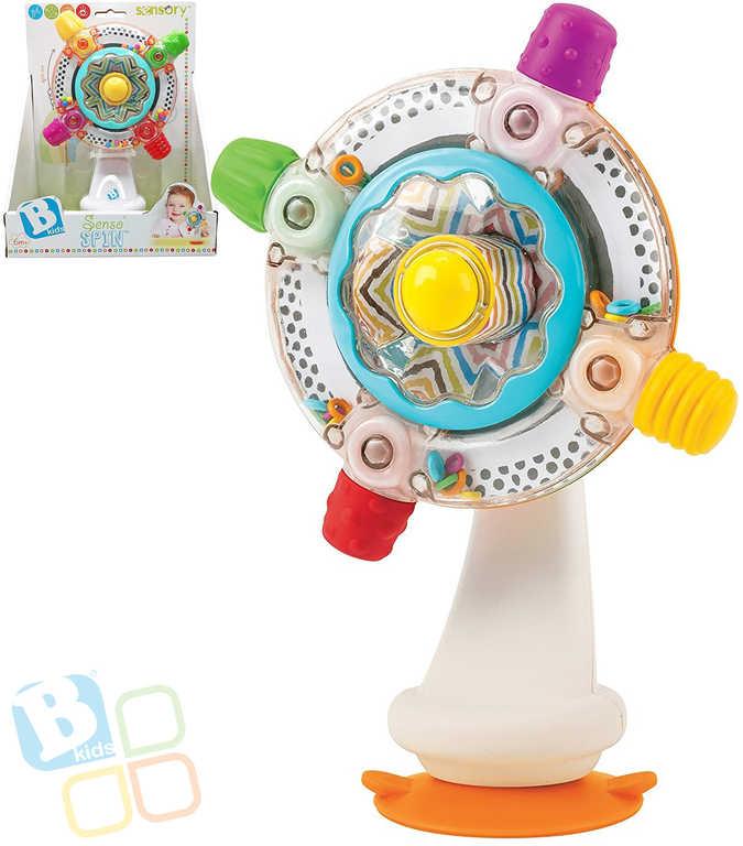 B-KIDS Baby kolotoč senzorický chrastící plast pro miminko