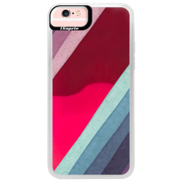 Neonové pouzdro Pink iSaprio - Glitter Stripes 01 - iPhone 6/6S