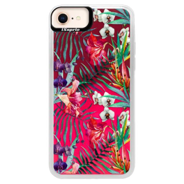 Neonové pouzdro Pink iSaprio - Flower Pattern 03 - iPhone 8