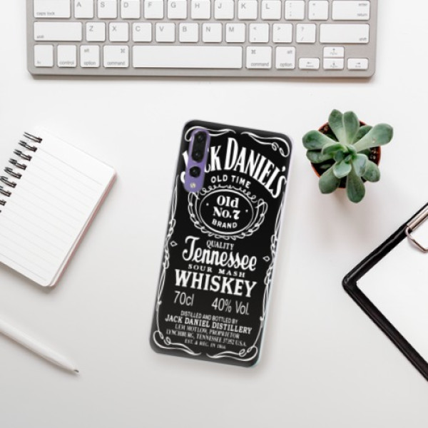 Silikonové pouzdro iSaprio - Jack Daniels - Huawei P20 Pro