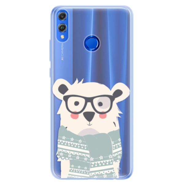 Silikonové pouzdro iSaprio - Bear with Scarf - Huawei Honor 8X