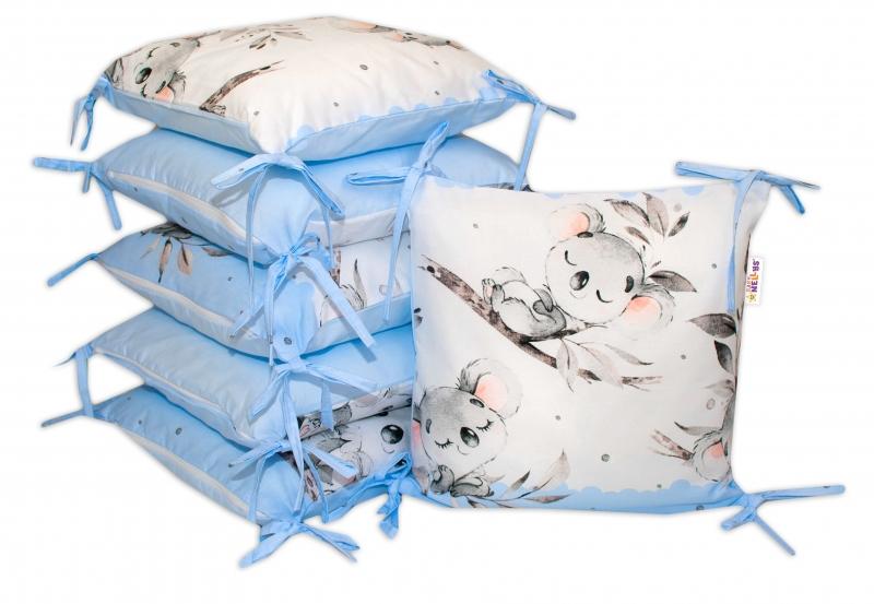 Bavlněný polštářkový mantinel Baby Nellys Medvídek Koala - modrý