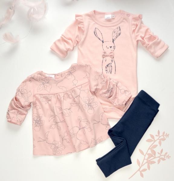 k-baby-3-dilna-sada-body-dlouhy-rukav-triko-leginy-kralicek-pudrove-ruzova-jeans-62-2-3m