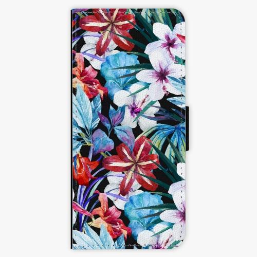 Flipové pouzdro iSaprio - Tropical Flowers 05 - Samsung Galaxy J3 2016