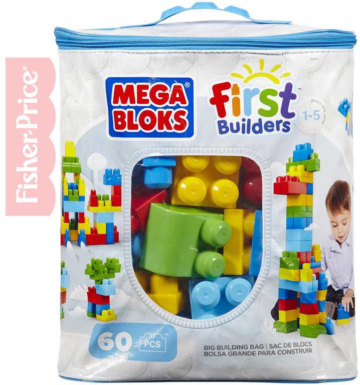 FISHER PRICE MEGA BLOKS Stavebnice 60 dílků v plastové tašce pro kluky