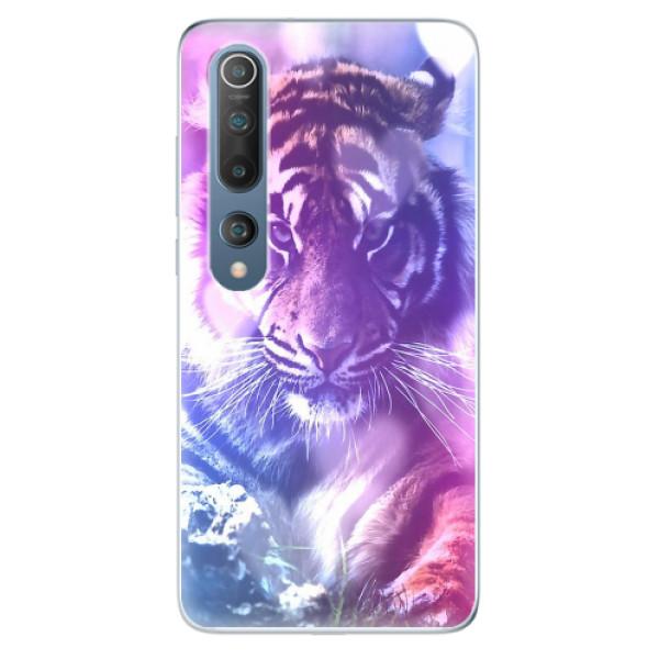 Odolné silikonové pouzdro iSaprio - Purple Tiger - Xiaomi Mi 10 / Mi 10 Pro