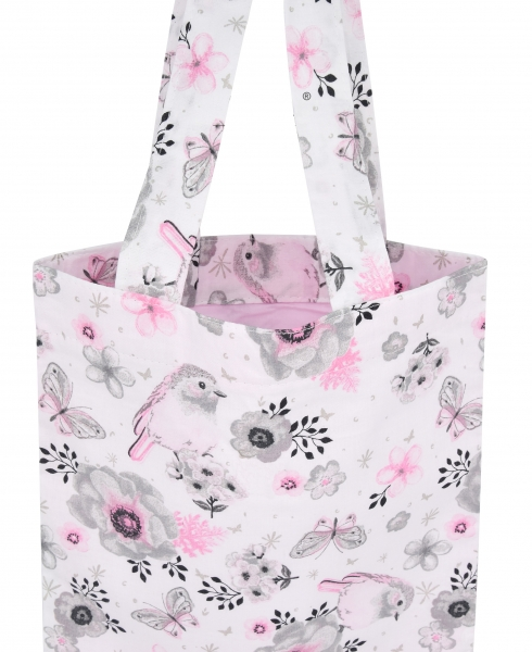 Bavlněná taška Baby Nellys Maxi pro mámy - Ptáčci růžoví