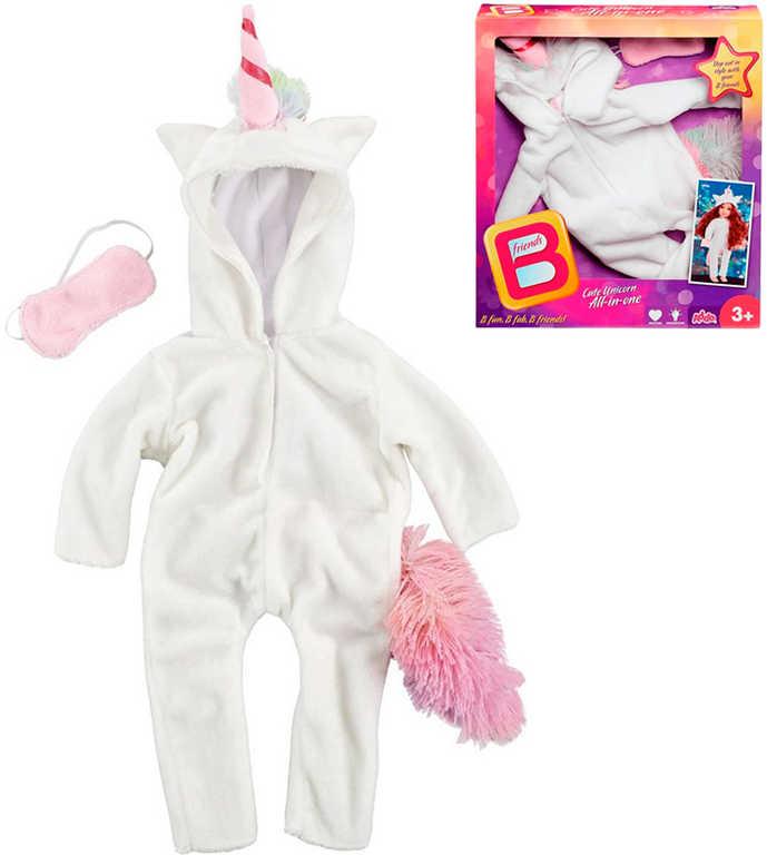 B Friends overal jednorožec pro panenku 45cm set obleček s maskou na oči