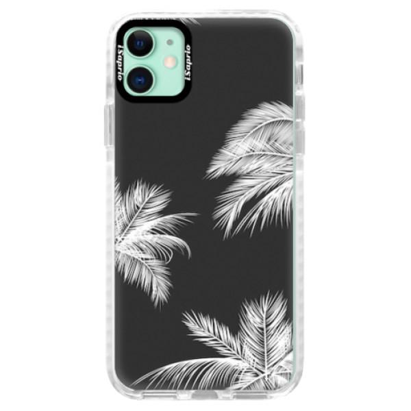 Silikonové pouzdro Bumper iSaprio - White Palm - iPhone 11