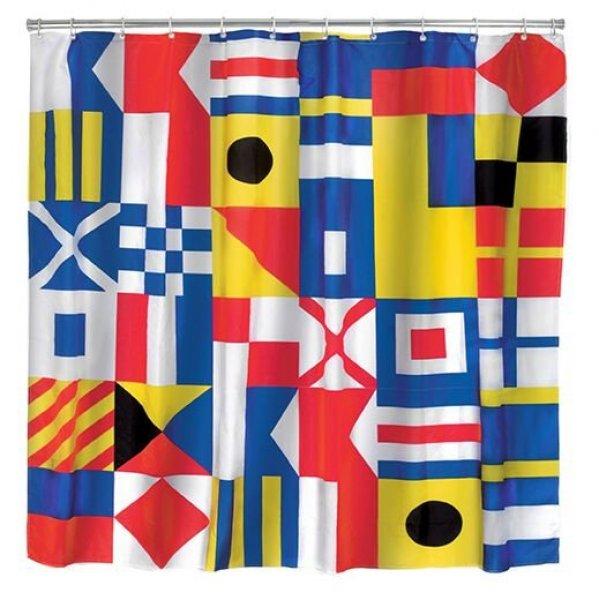 Sprchový závěs námořní vlajky