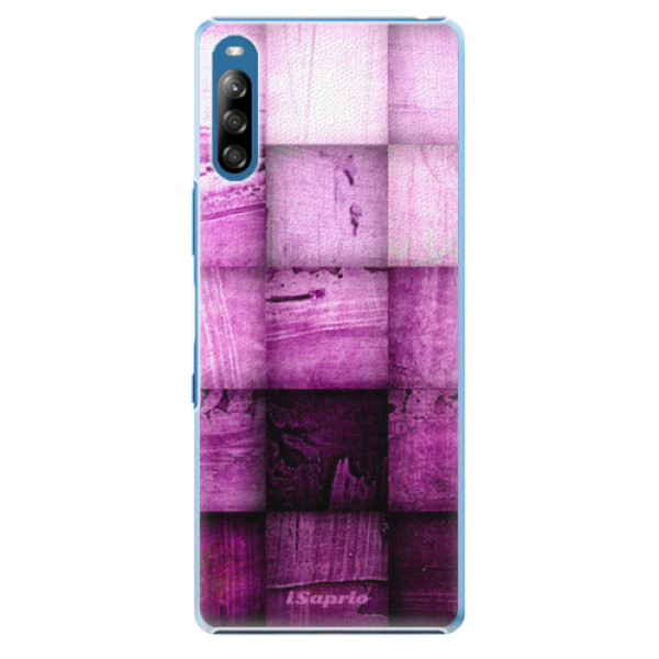 Plastové pouzdro iSaprio - Purple Squares - Sony Xperia L4