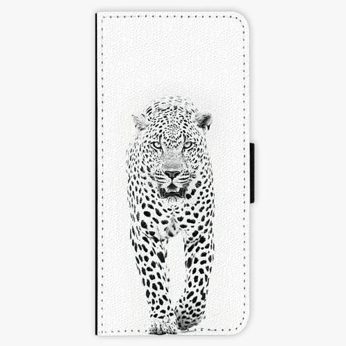 Flipové pouzdro iSaprio - White Jaguar - Samsung Galaxy J3 2016