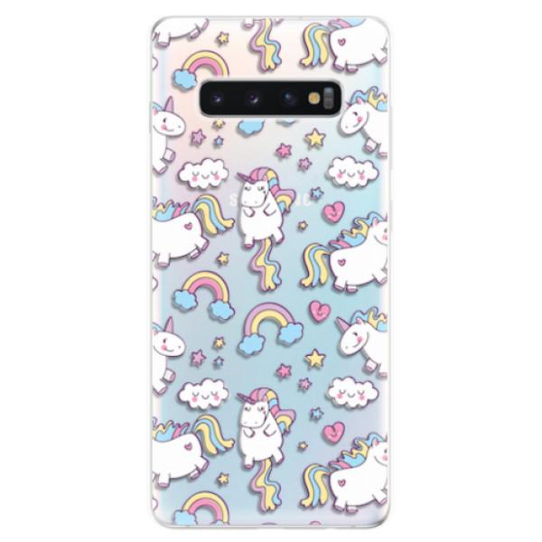 Odolné silikonové pouzdro iSaprio - Unicorn pattern 02 - Samsung Galaxy S10+