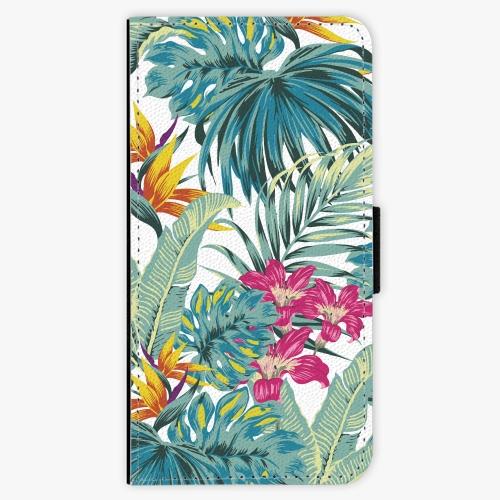 Flipové pouzdro iSaprio - Tropical White 03 - iPhone 5/5S/SE