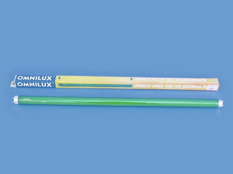 Trubice 18W 600x26mm Omnilux, zelená