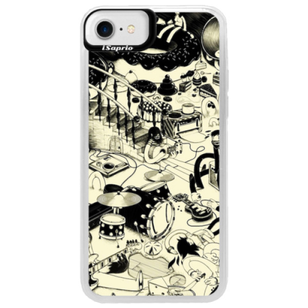 Neonové pouzdro Blue iSaprio - Underground - iPhone 7