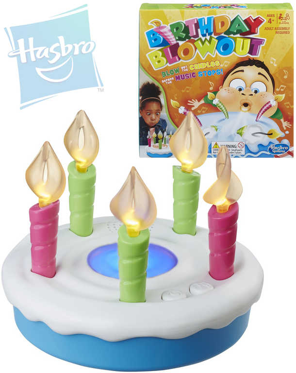 HASBRO Hra Birthday Blowout na baterie