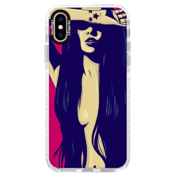 Silikonové pouzdro Bumper iSaprio - Cartoon Girl - iPhone XS